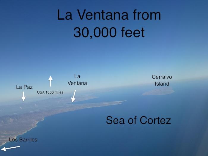 La Ventana from 30,000'